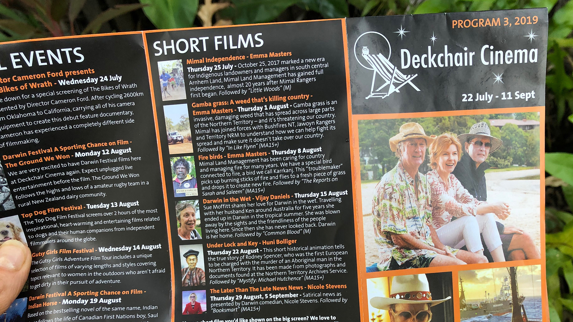 Shorts screen at the Deckchair Cinema