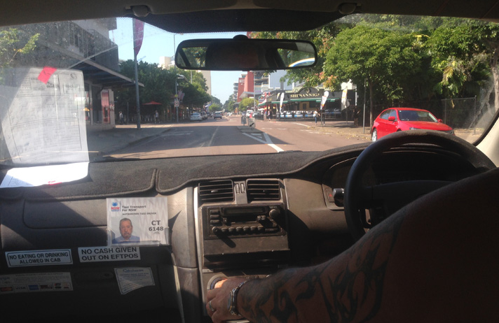 Helping to drive the Last Cab to Darwin