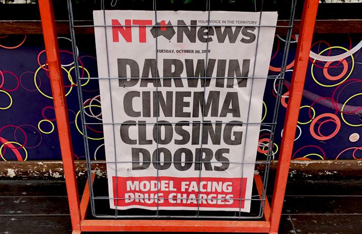 Darwin Cinima Closing Doors