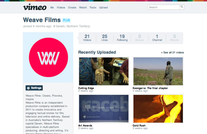 Weave Films on Vimeo